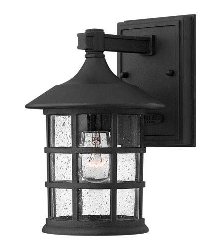 Hinkley Lighting Freeport 1 Light Outdoor Wall Mount in Black 1800BK-ES