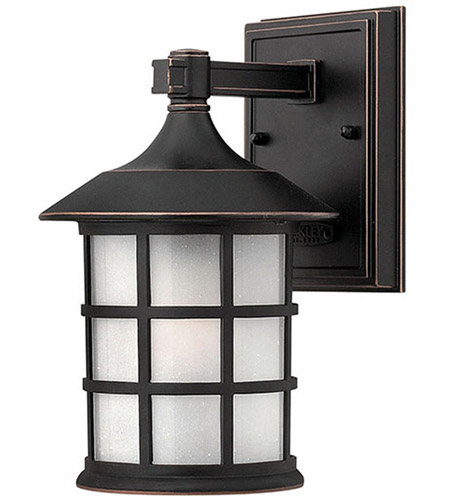 Hinkley 1800OP-LED Freeport 1 Light 9 inch Olde Penny Outdoor Wall in Etched Seedy, LED, Clear Seedy Glass photo