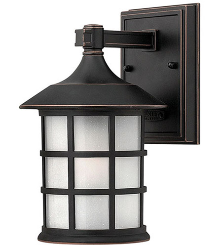 Hinkley 1800OP Freeport 1 Light 9 inch Olde Penny Outdoor Wall Lantern in Etched Seedy, Incandescent photo