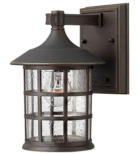 Hinkley 1800OZ-GU24 Freeport 1 Light 9 inch Oil Rubbed Bronze Outdoor Wall in Clear Seedy, GU24 photo
