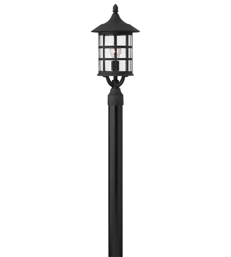 Hinkley Lighting Freeport 1 Light Post Lantern (Post Sold Separately) in Black 1801BK-ES