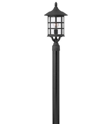 Hinkley 1801BK-GU24 Freeport 1 Light 20 inch Black Post Lantern in Clear Seedy, GU24, Clear Seedy Glass photo
