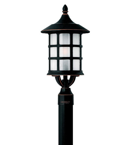 Hinkley Lighting Freeport 1 Light Post Lantern (Post Sold Separately) in Olde Penny 1801OP-ES