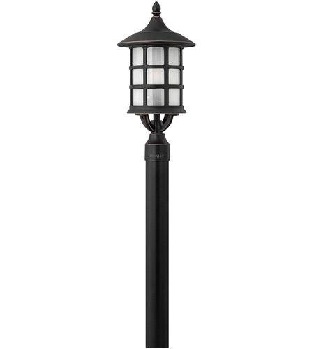 Hinkley 1801OP Freeport 1 Light 20 inch Olde Penny Post Lantern in Etched Seedy, Incandescent, Post Sold Separately photo