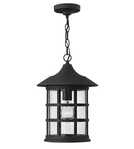 Hinkley Lighting Freeport 1 Light Outdoor Hanging Lantern in Black 1802BK-ES