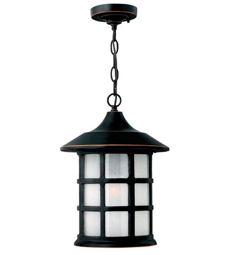 Hinkley Lighting Freeport 1 Light Outdoor Hanging Lantern in Olde Penny 1802OP-ESDS