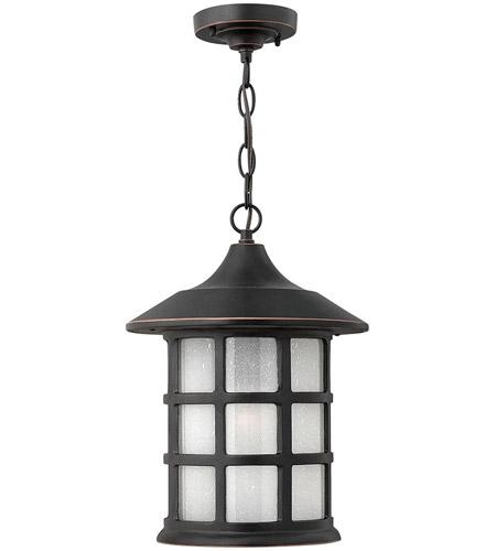Hinkley Lighting Freeport 1 Light Outdoor Hanging Lantern in Olde Penny 1802OP-LED