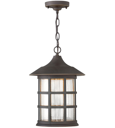 Hinkley 1802OZ-LED Freeport LED 10 inch Oil Rubbed Bronze Outdoor Hanging Lantern in Clear Seedy photo