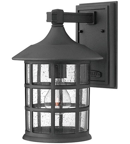 Hinkley Lighting Freeport 1 Light Outdoor Wall Mount in Black 1804BK