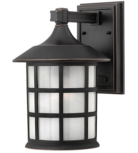 Hinkley 1804OP-LED Freeport LED 12 inch Olde Penny Outdoor Wall Lantern in Etched Seedy photo