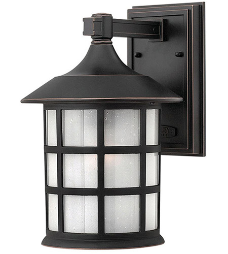 Hinkley 1804OP Freeport 1 Light 12 inch Olde Penny Outdoor Wall Lantern in Etched Seedy, Incandescent photo