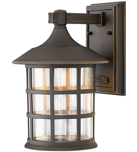 Hinkley 1804OZ-LED Freeport LED 12 inch Oil Rubbed Bronze Outdoor Wall Lantern in Clear Seedy photo