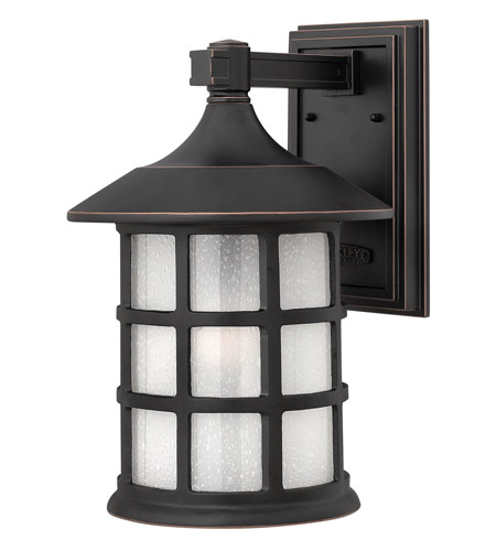 Hinkley 1805OP-GU24 Freeport 1 Light 15 inch Olde Penny Outdoor Wall in Etched Seedy, GU24, Clear Seedy Glass photo