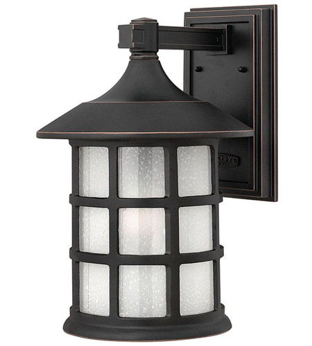 Hinkley 1805OP-LED Freeport LED 15 inch Olde Penny Outdoor Wall Lantern in Etched Seedy photo