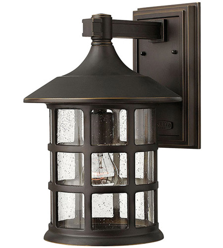 Hinkley 1805OZ-GU24 Freeport 1 Light 15 inch Oil Rubbed Bronze Outdoor Wall in Clear Seedy, GU24 photo