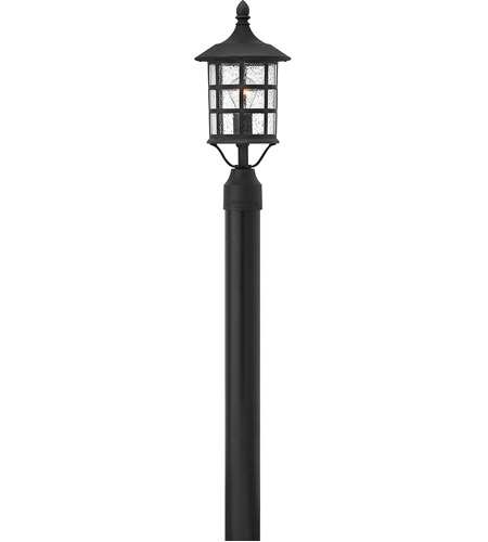 Hinkley 1807BK Freeport 1 Light 18 inch Black Outdoor Post Mount, Clear Seedy Glass photo
