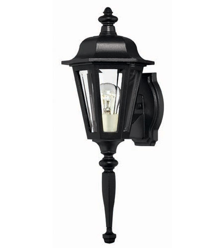Hinkley Lighting Manor House 1 Light Outdoor Wall Lantern in Black 1810BK