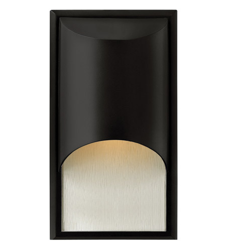 Hinkley 1830SK-GU24 Cascade 1 Light 15 inch Satin Black Outdoor Wall in Clear Etched Organic Rain, GU24, Alabaster Glass photo