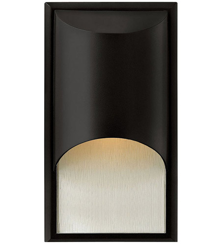Hinkley Lighting Cascade 1 Light Outdoor Wall Lantern in Satin Black 1830SK-LED