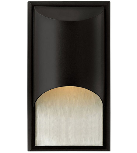 Hinkley 1830SK Cascade 1 Light 15 inch Satin Black Outdoor Wall Lantern in Clear Etched Organic Rain, Incandescent photo
