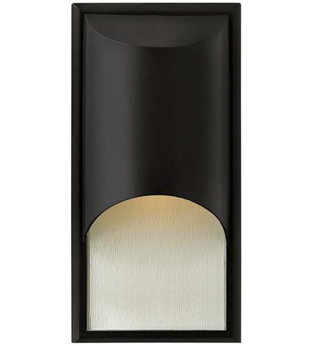 Hinkley Lighting Cascade 1 Light Outdoor Wall Lantern in Satin Black 1830SK