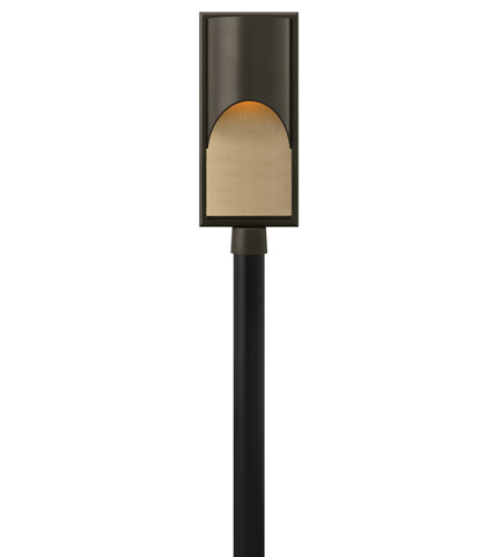 Hinkley 1831BZ-LED Cascade 1 Light 23 inch Bronze Post Lantern in Amber Etched Organic Rain, LED, Alabaster Glass, Post Sold Separately photo