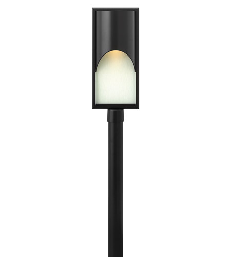 Hinkley Lighting Cascade 1 Light LED Post Lantern (Post Sold Separately) in Satin Black 1831SK-LED