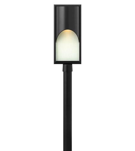 Hinkley 1831SK Cascade 1 Light 23 inch Satin Black Post Lantern in Clear Etched Organic, Incandescent, Alabaster Glass, Post Sold Separately photo