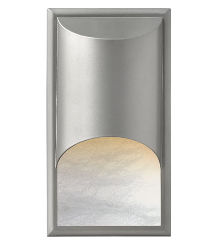 Hinkley Lighting Cascade 1 Light Outdoor Wall Mount in Titanium 1832TT-LED