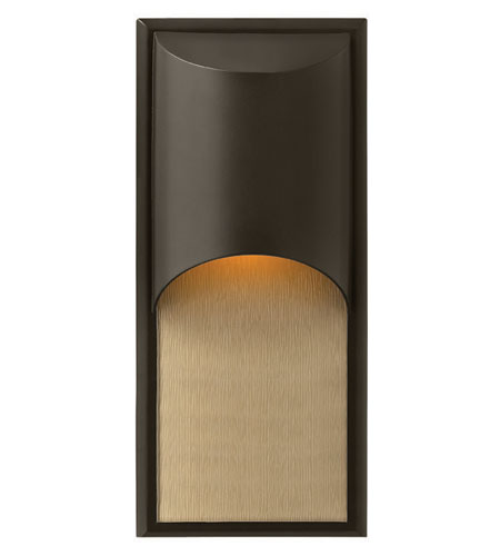 Hinkley Lighting Cascade 1 Light Outdoor Wall Lantern in Bronze 1834BZ-ES