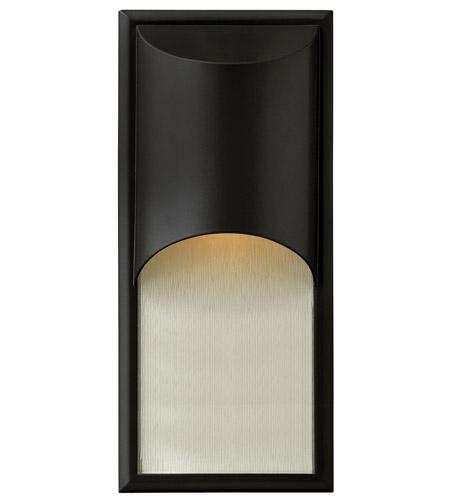 Hinkley Lighting Cascade 1 Light GU24 CFL Outdoor Wall in Satin Black 1834SK-GU24