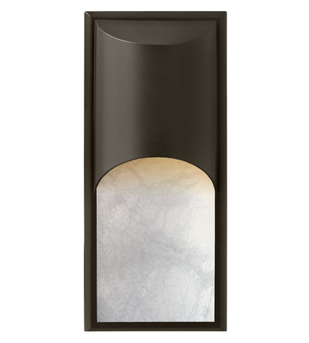 Hinkley 1836BZ-LED Cascade LED 18 inch Bronze Outdoor Wall Mount, Alabaster Glass photo