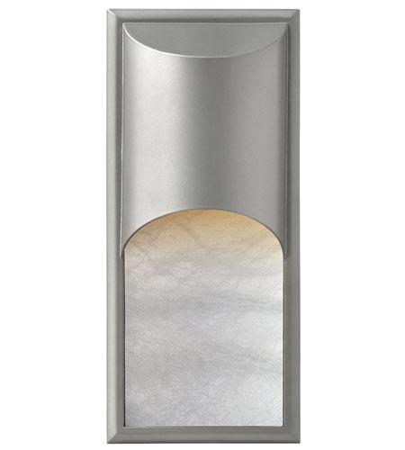 Hinkley Lighting Cascade 1 Light Outdoor Wall Mount in Titanium 1836TT-LED