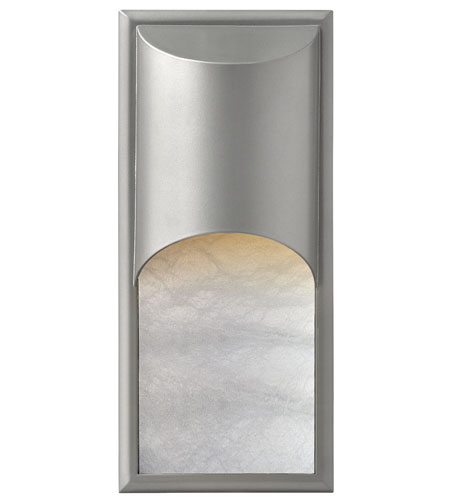 Hinkley Lighting Cascade 1 Light Outdoor Wall Mount in Titanium 1836TT