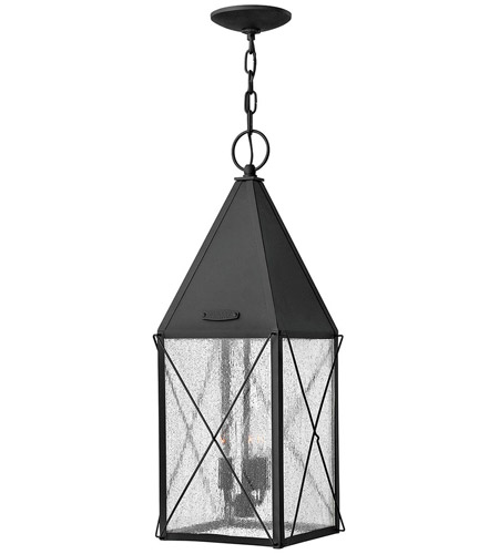 Hinkley Lighting York 3 Light Outdoor Hanging Lantern in Black 1842BK photo