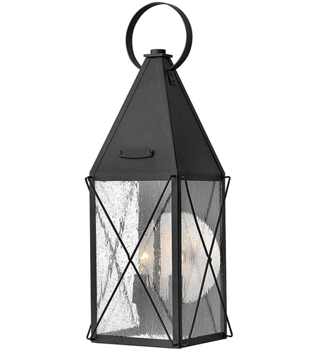 Hinkley 1844BK York 2 Light 21 inch Black Outdoor Wall Lantern, Clear Seedy Glass photo
