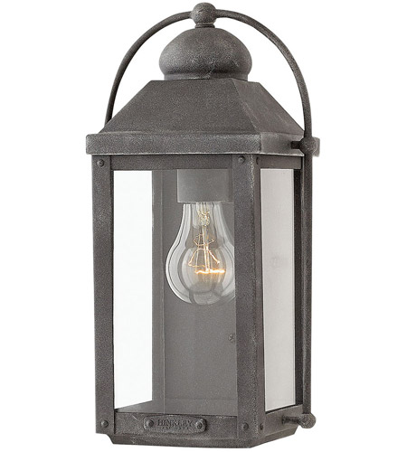 Hinkley 1850DZ Anchorage 1 Light 13 inch Aged Zinc Outdoor Wall Mount, Heritage photo