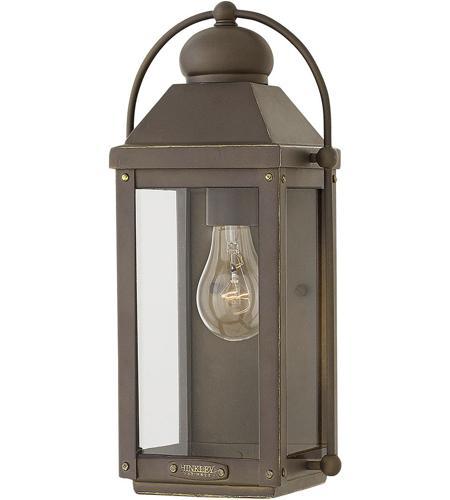 Hinkley Montreal Pedestal Light: Hinkley 1850LZ Anchorage 1 Light 13 Inch Light Oiled