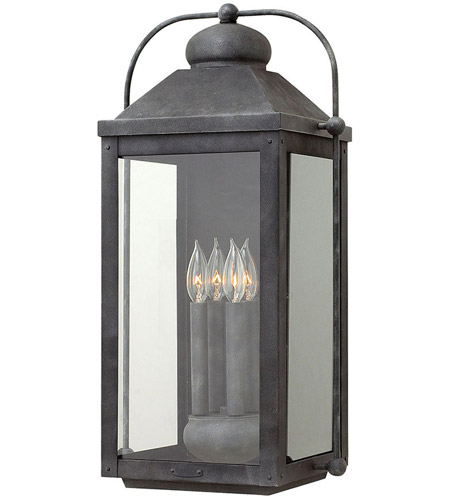 Hinkley 1858dz Heritage Anchorage 4 Light 25 Inch Aged Zinc Outdoor Wall Mount In Incandescent Extra Large