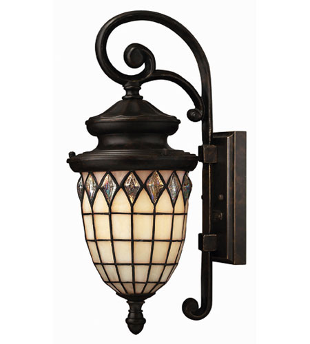 Hinkley Lighting Innsbruck 1 Light Outdoor Wall Lantern in Regency Bronze 1860RB-ES