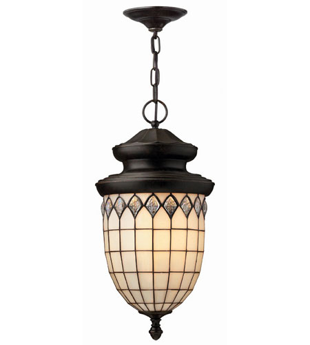 Hinkley Lighting Innsbruck 1 Light Outdoor Hanging Lantern in Regency Bronze 1862RB-ES