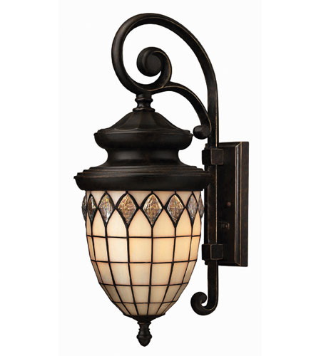 Hinkley Lighting Innsbruck 1 Light Outdoor Wall Lantern in Regency Bronze 1864RB-ES