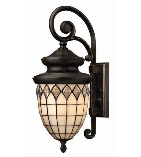 Hinkley Lighting Innsbruck 3 Light Outdoor Wall Lantern in Regency Bronze 1864RB