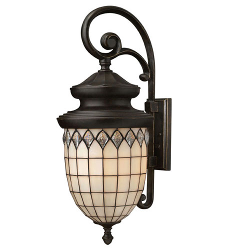 Hinkley Lighting Innsbruck 1 Light Outdoor Wall Lantern in Regency Bronze 1865RB-ES