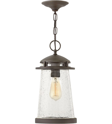 Hinkley 1882OZ Tatum 1 Light 8 inch Oil Rubbed Bronze Outdoor Hanging Light photo