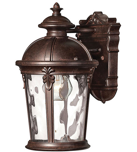 Hinkley 1890RK Windsor 1 Light 13 inch River Rock Outdoor Wall Mount in Incandescent photo