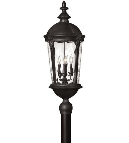 Hinkley Lighting Windsor 4 Light Post Lantern (Post Sold Separately) in Black 1891BK