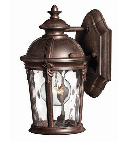 Hinkley Lighting Windsor 1 Light Outdoor Wall Lantern in River Rock 1896RK
