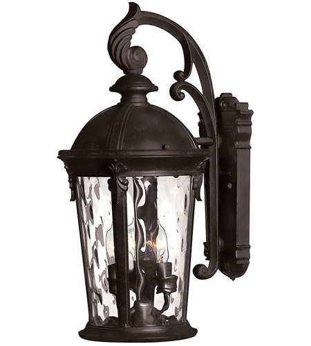 Hinkley Lighting Windsor 3 Light Outdoor Wall in Black 1898BK