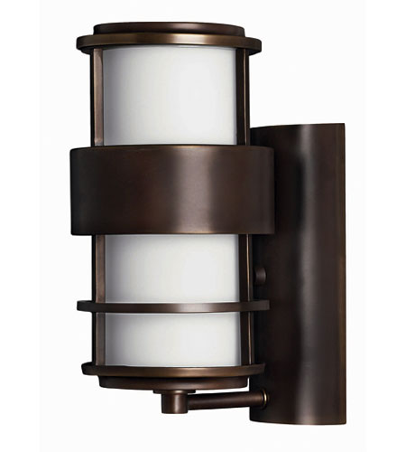 Hinkley Lighting Saturn 1 Light Outdoor Wall Lantern in Metro Bronze 1900MT-ES
